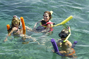 people are snorkeling in Key West