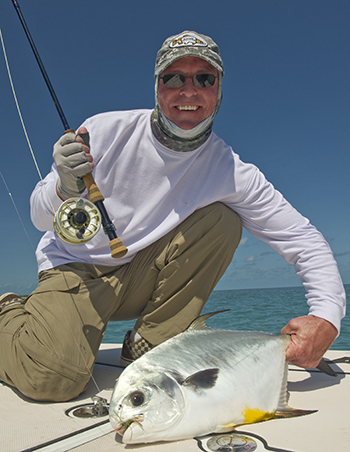 Permit caught on the flats of Key West fly fishing
