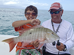 mutton snapper, fishing in Key West with kid